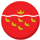 East Sussex County Flag 58mm Button Badge